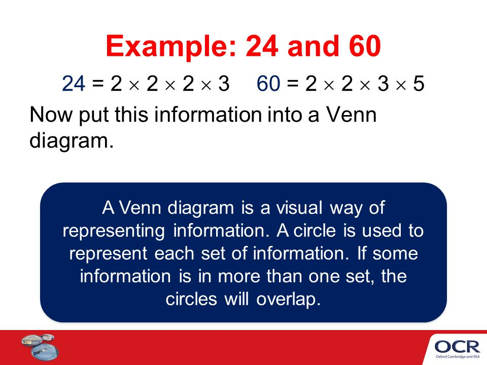 Venn diagrams to find the hcf and lcm ppt video online download 4 example ccuart Image collections