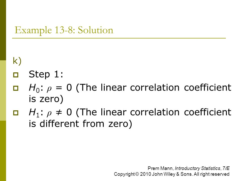 Example 13-8: Solution Step 1: