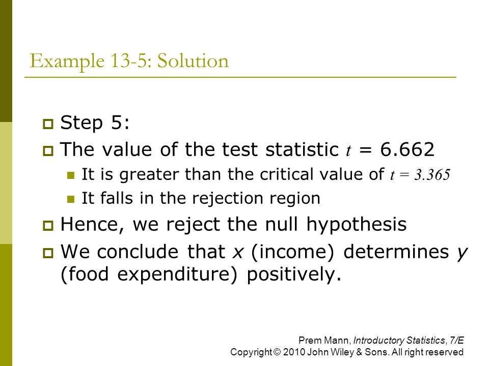Example 13-5: Solution Step 5: