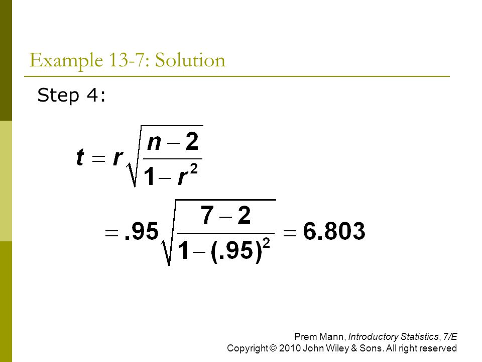 Example 13-7: Solution Step 4: