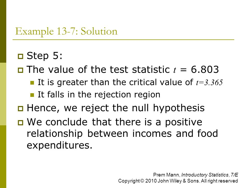 Example 13-7: Solution Step 5:
