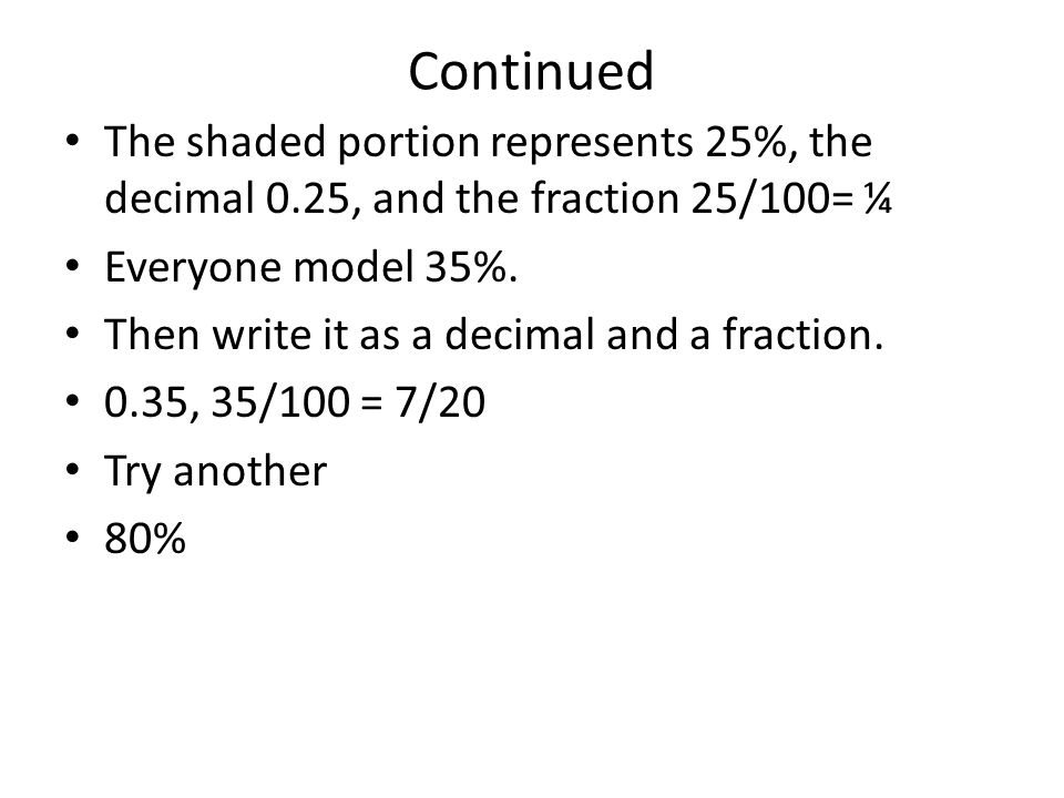 Modeling and Understanding Percents Pages in Textbook - ppt download
