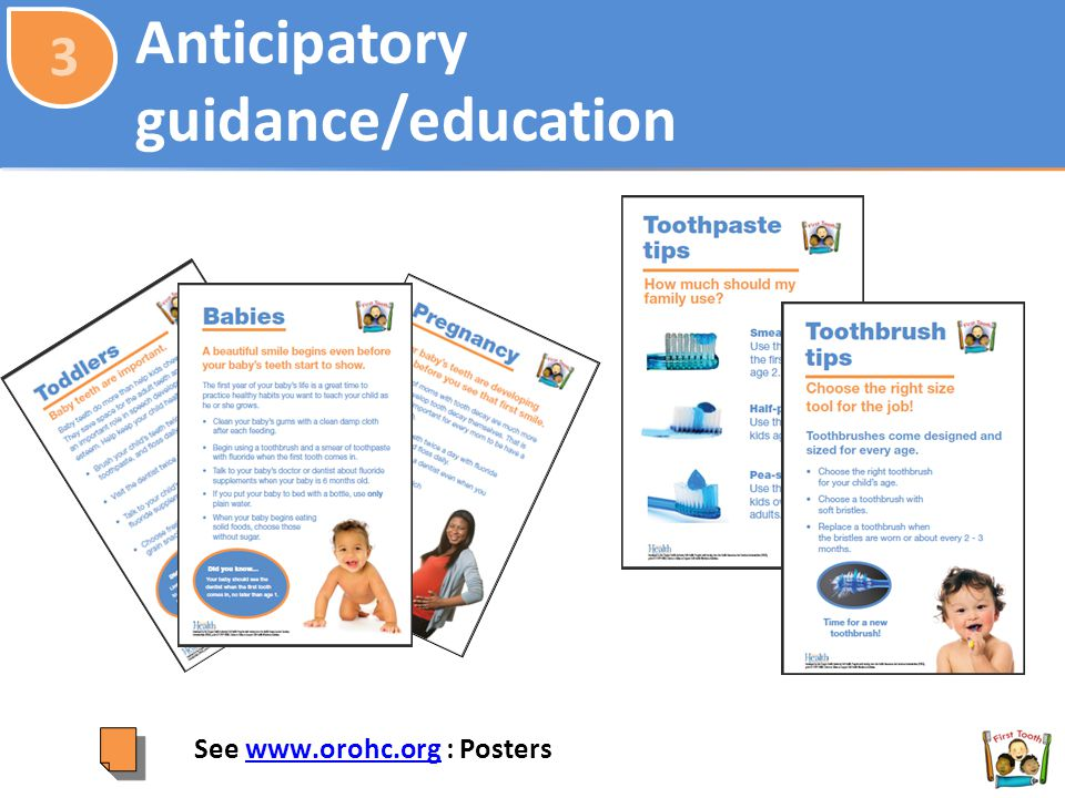 Anticipatory guidance/education