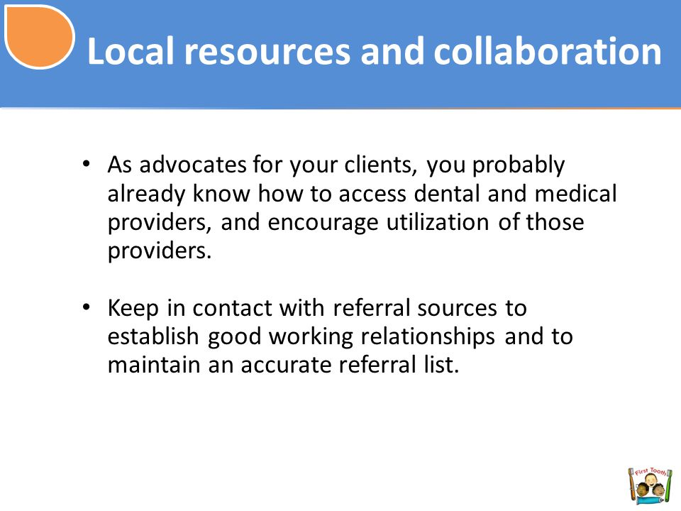 Local resources and collaboration