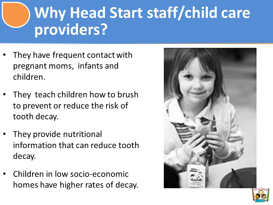 Why Head Start staff/child care providers