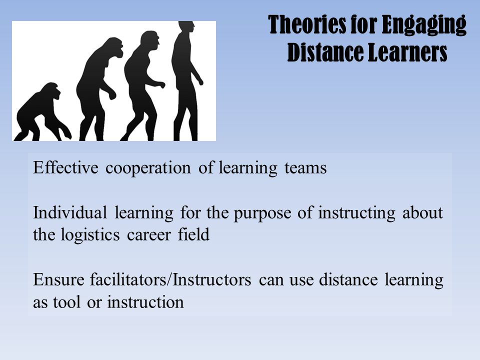 Theories for Engaging Distance Learners