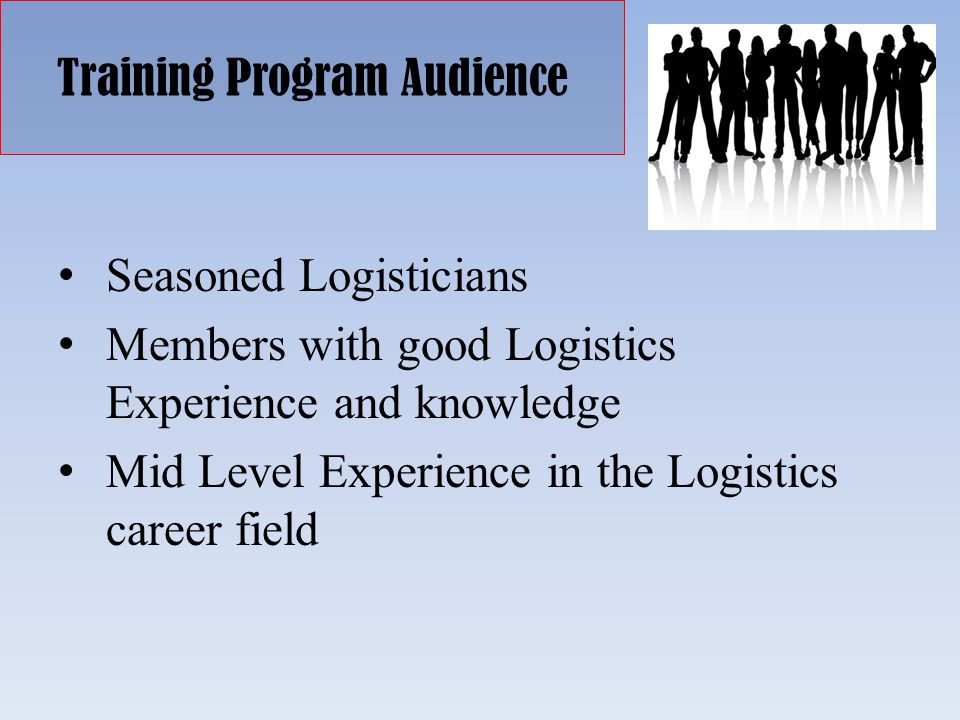 Training Program Audience