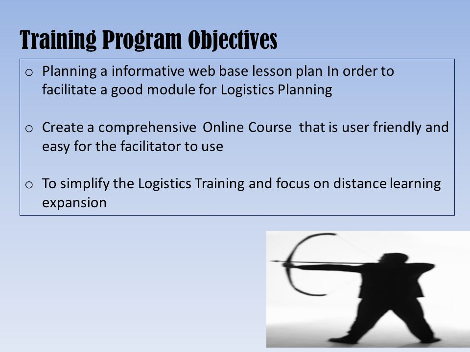 Training Program Objectives