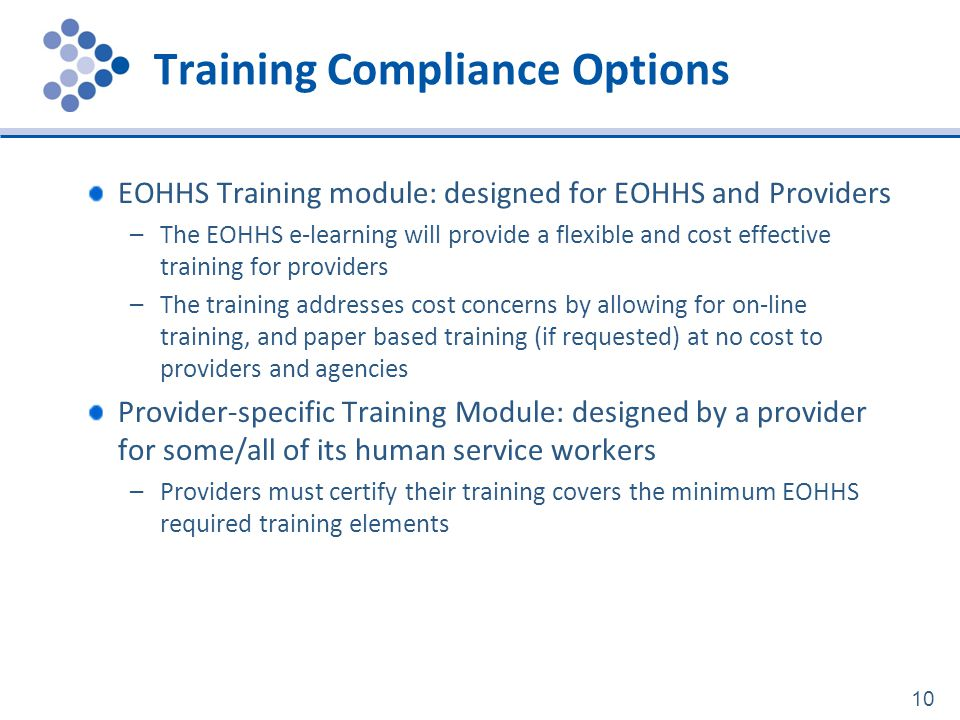 Training Compliance Options