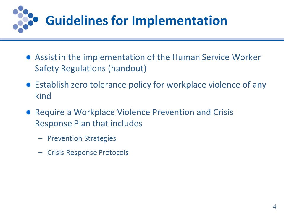 Guidelines for Implementation