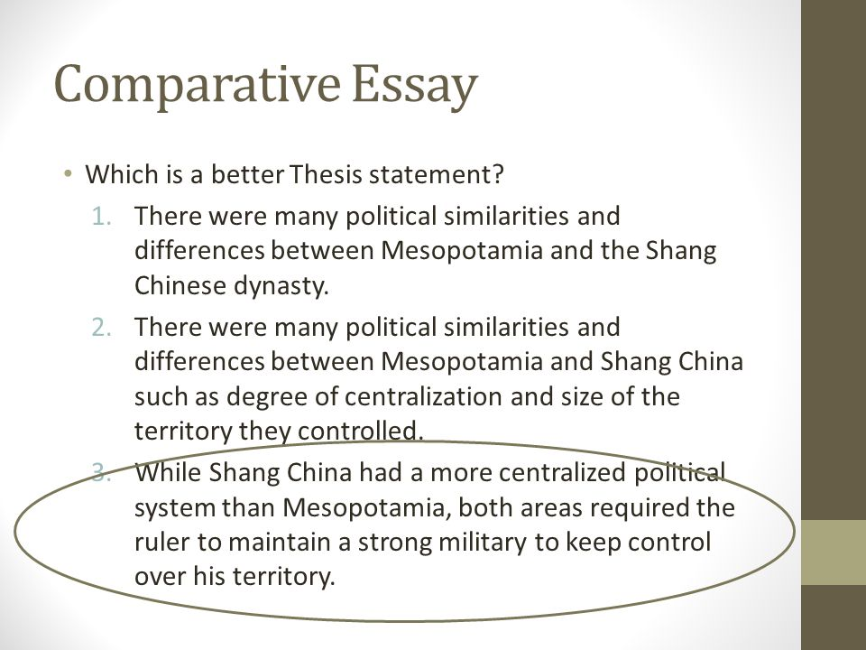 thesis structure for comparative essay