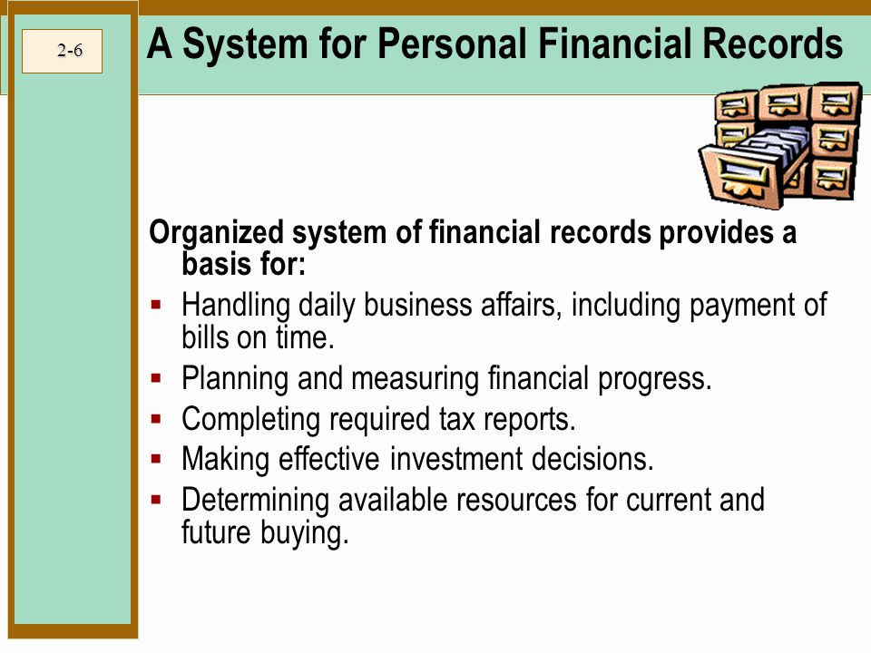 A System for Personal Financial Records
