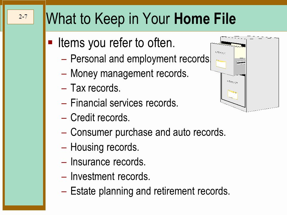 What to Keep in Your Home File