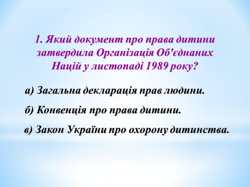 а) Загальна декларація прав людини.
