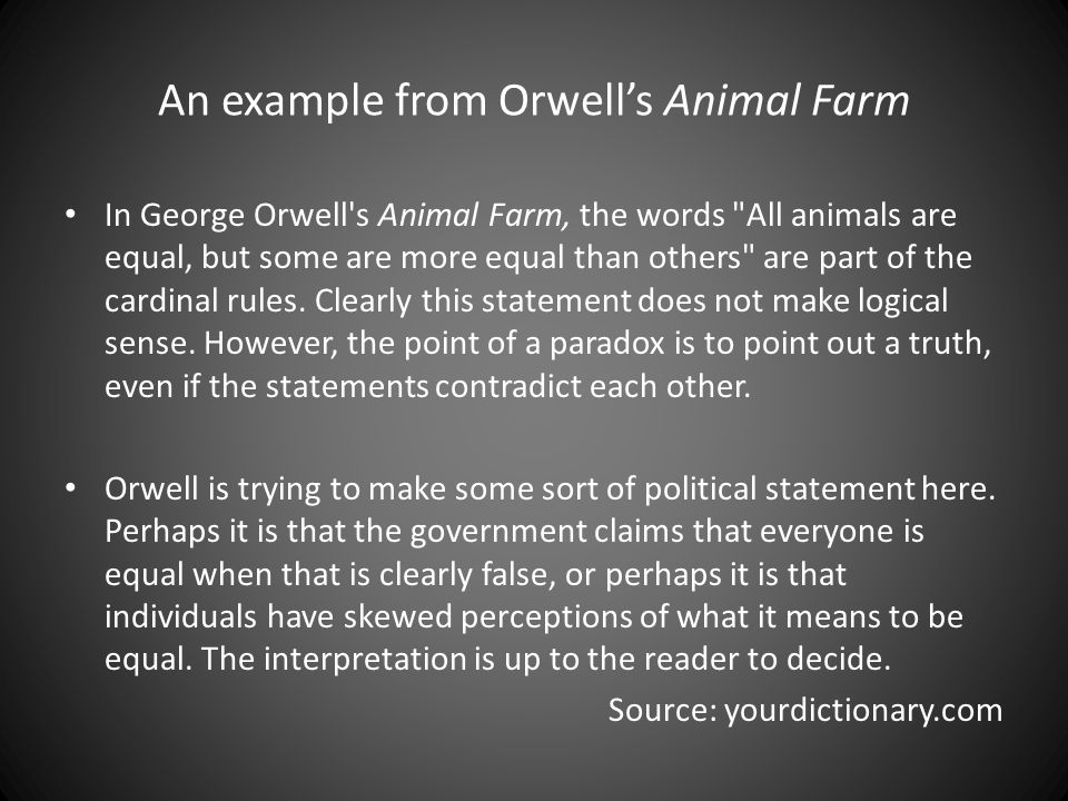 "7 rules of animal farm When and how to pair: introduce this text after reading chapter two, when the animals create the seven commandments as a set of values for the animals to live by pair animal farm: chapter two with ""the ten commandments,"" and ask students to compare these biblical principles with the seven commandments of."
