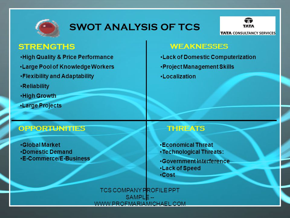 pest analysis for tcs