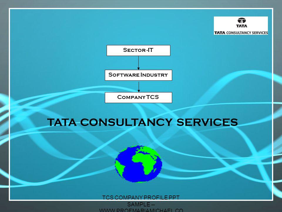 Consultancy Service Company : Tcs company profile ppt sample profmariamichael