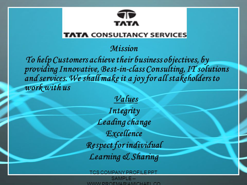 organizational values tcs The tcs can have values that the 10 organizational tcs identified tailoring a large organization's systems engineering process to meet project-specific.