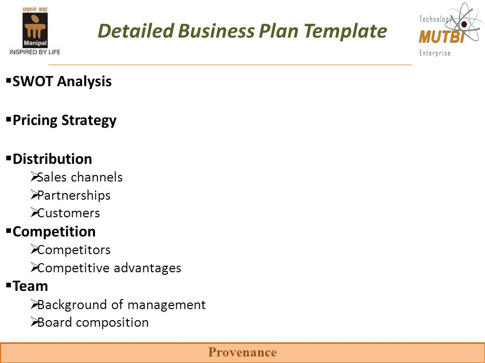 Distributor Business Plan