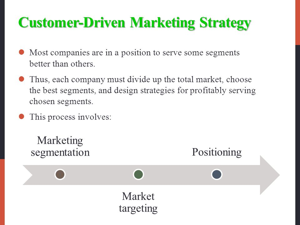 Customer-Driven Marketing Strategy