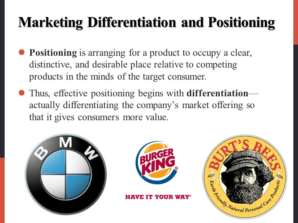 Marketing Differentiation and Positioning