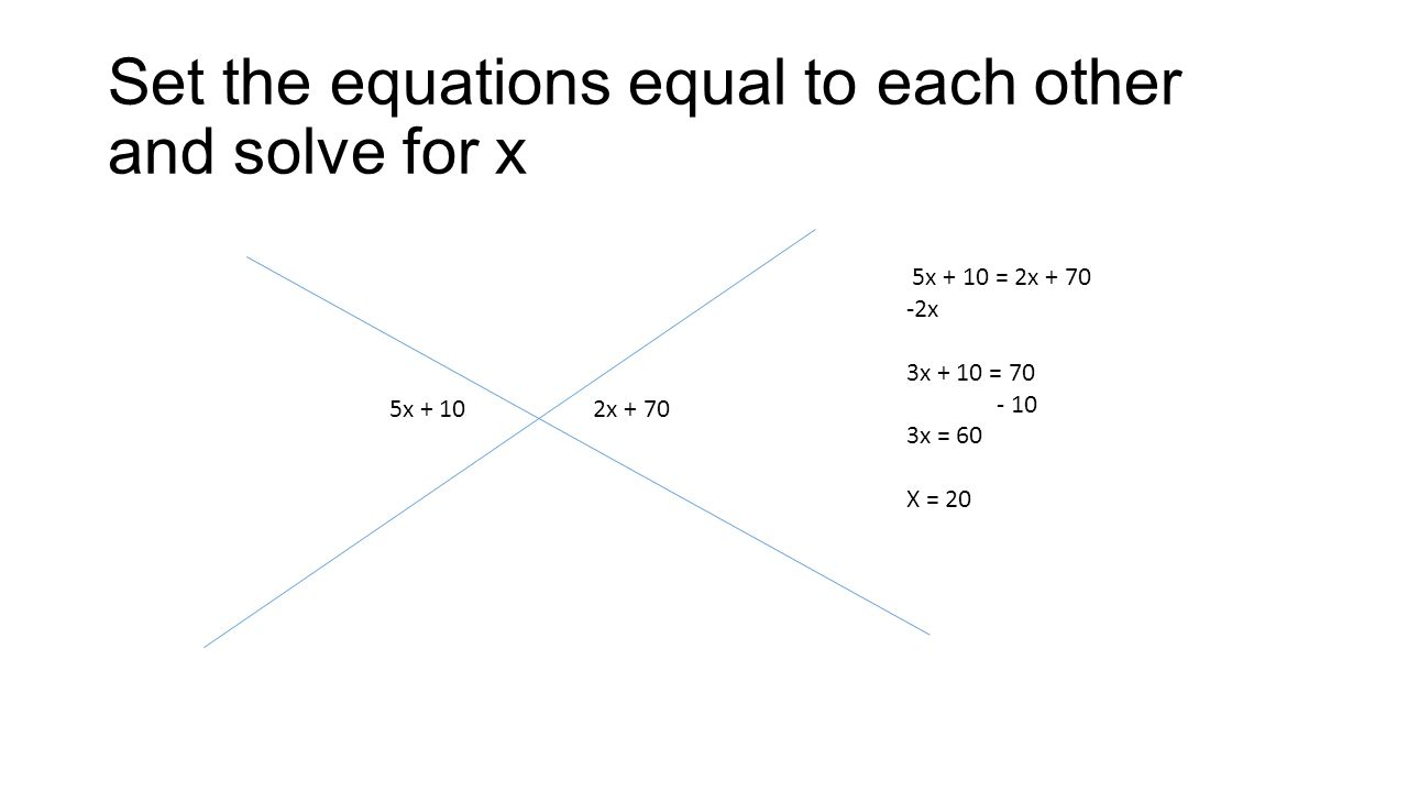 Finding angles with algebraic expressions - ppt video online download