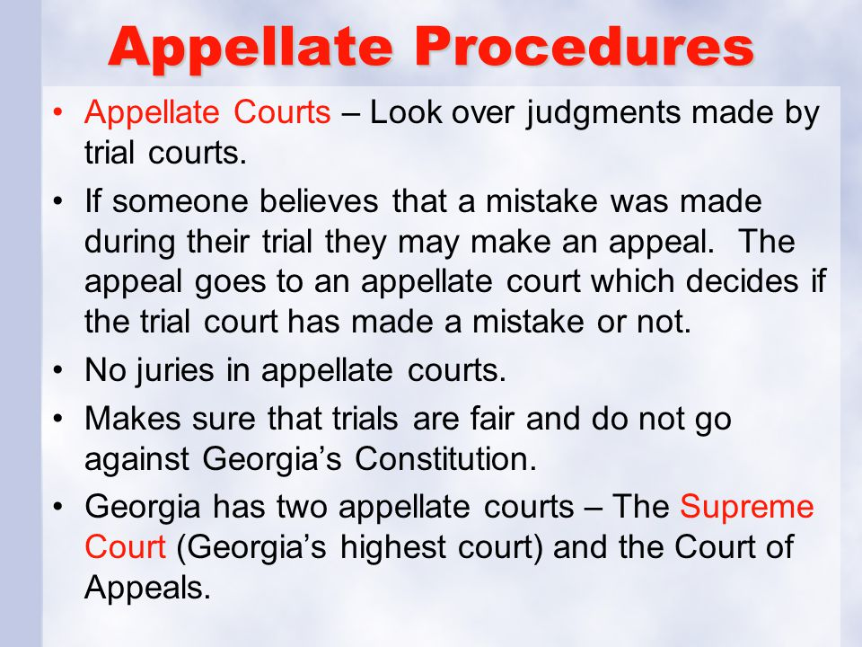 trial and appellate courts Although the fundamentals-preparation, simplicity, candor, responsiveness-apply in any forum, effective oral advocacy requires that lawyers be mindful of the differences between trial and appellate courts, in particular when presenting argument understanding and accounting for those differences can help.