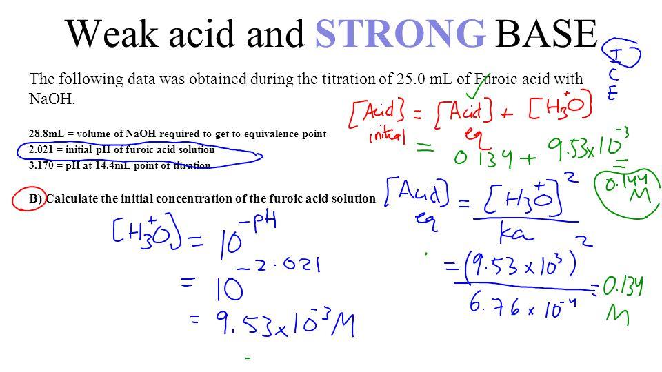 Weak acidstrong base calculations ppt video online download 17 weak ccuart Gallery