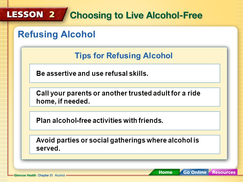 Tips for Refusing Alcohol