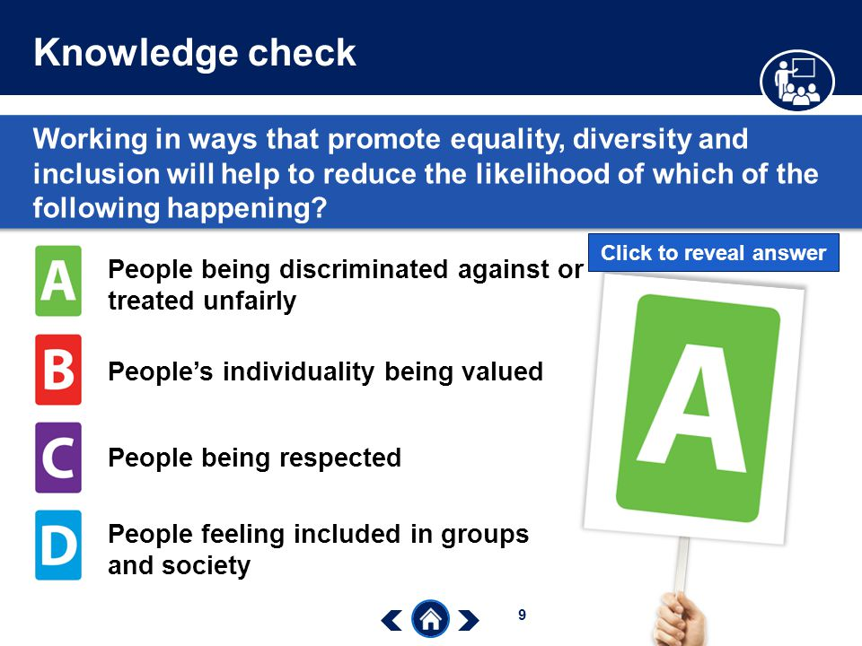 promote equality diversity and inclusion in Unit 503 champion equality, diversity and inclusion (sch53) 11 understand diversity, equality and inclusion in own area of responsibility understanding th.