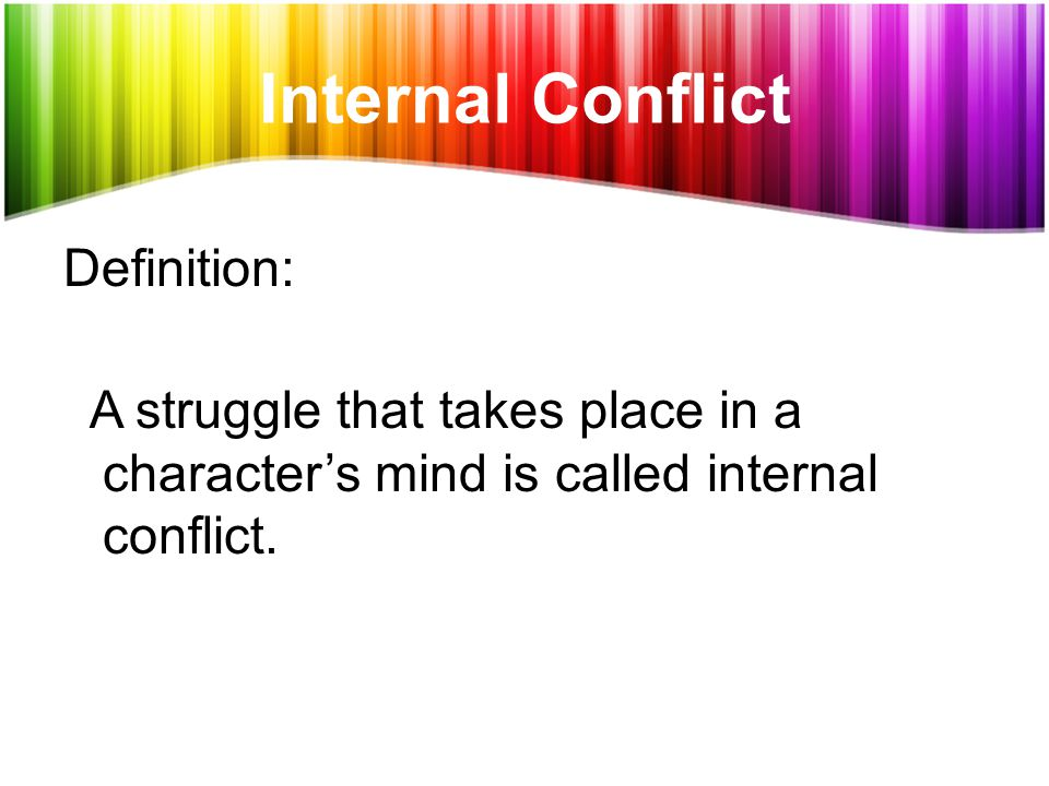 internal and external conflict pdf