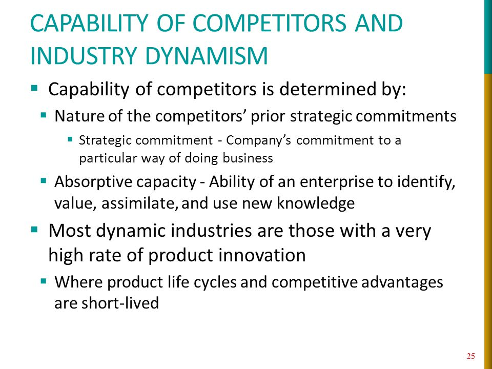 Capability of competitors and industry dynamism