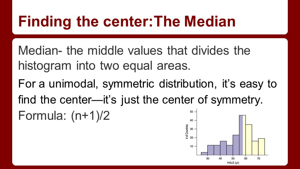 Estela molina and neil charles ppt download 2 finding the centerthe median ccuart Gallery