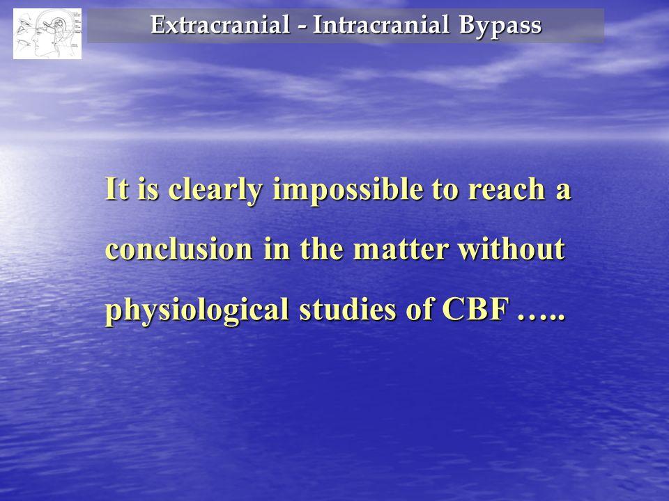 Extracranial - Intracranial Bypass