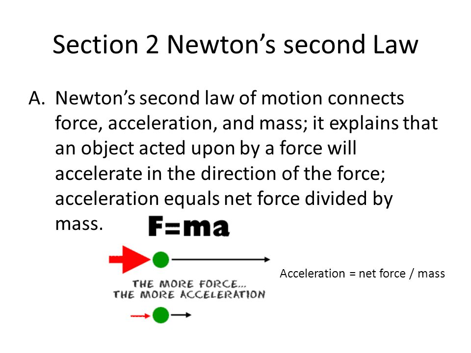 Section 2 Newton's second Law