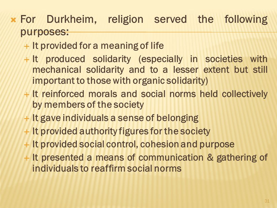 durkheim and the social origin of religion Nptel – humanities and social sciences – introduction to sociology  and  many religions have myths of origin of this sort but equally, many do not fourth,  religion  most influential study in the sociology of religion (durkheim 12976.