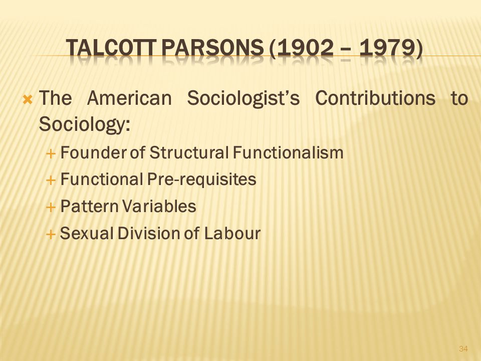understanding the society in the functionalist view based on works by talcott parsons and the confli Please download to view introduction to sociology/print version.