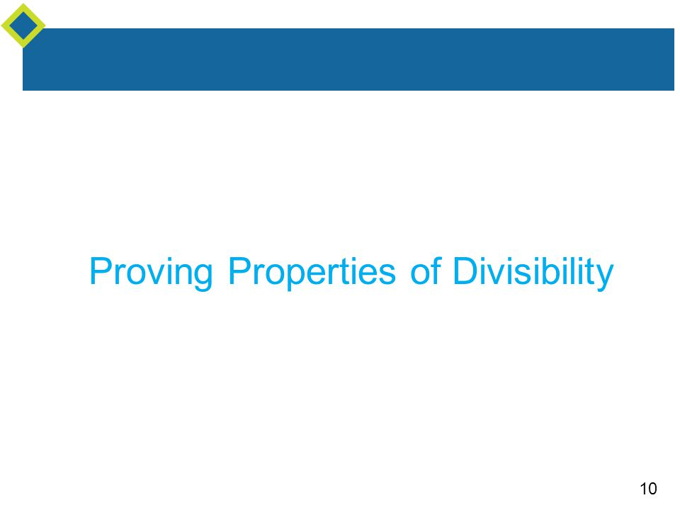Proving Properties of Divisibility