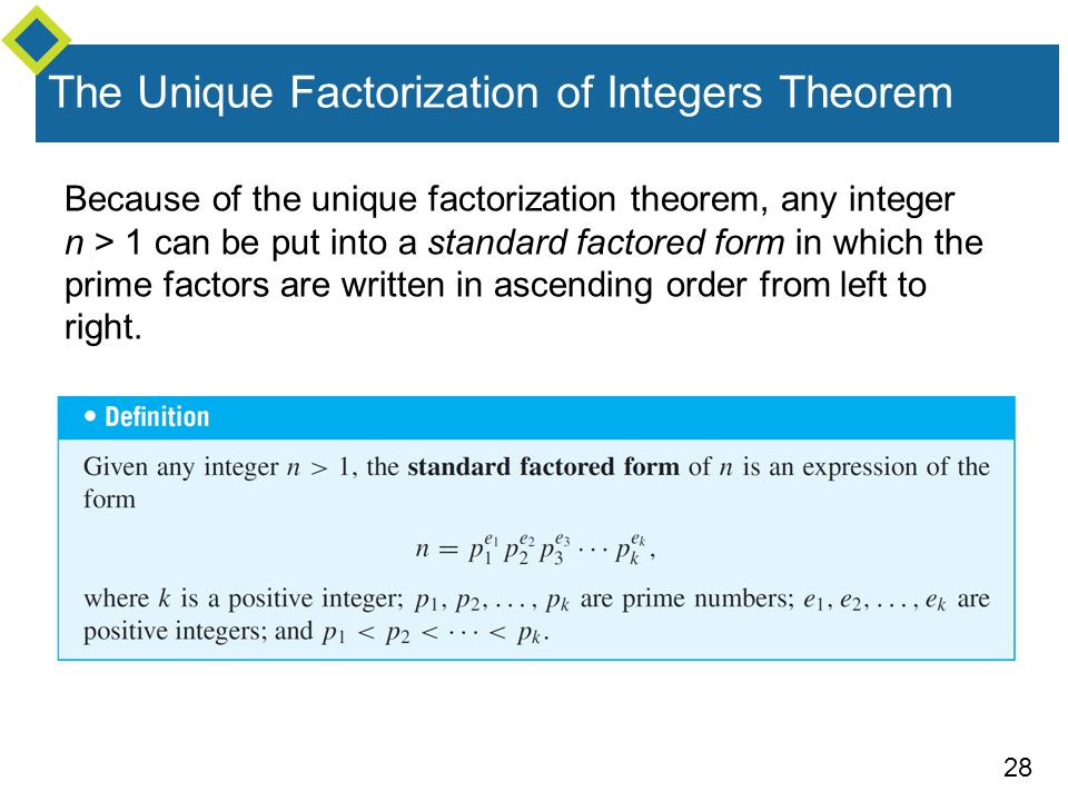 The Unique Factorization of Integers Theorem