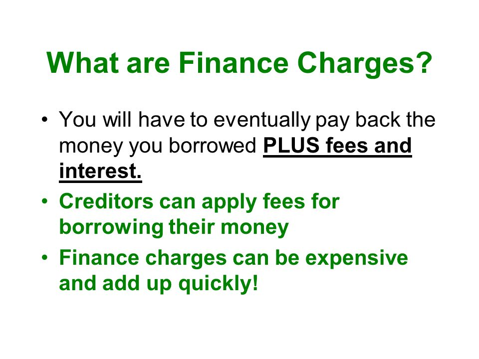 What are Finance Charges