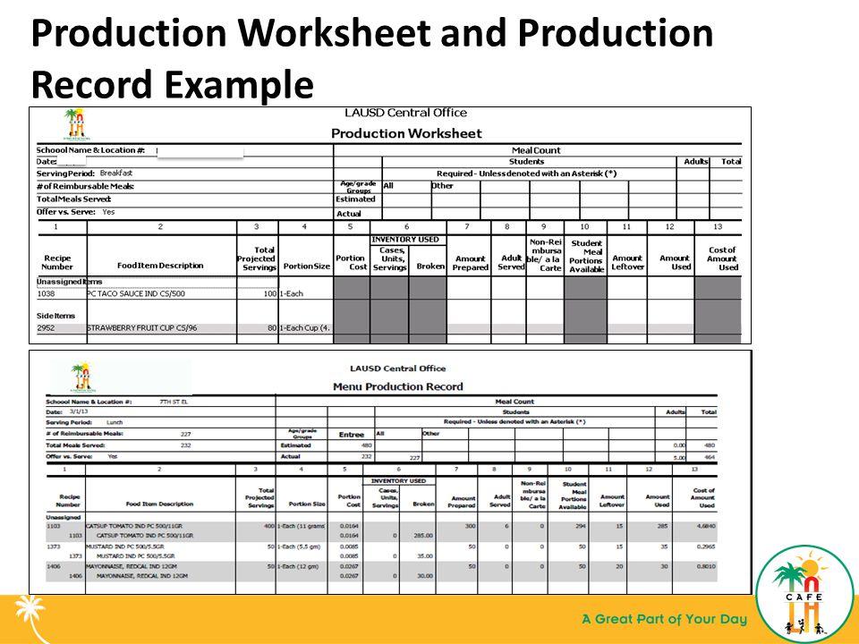 production worksheets ppt download. Black Bedroom Furniture Sets. Home Design Ideas