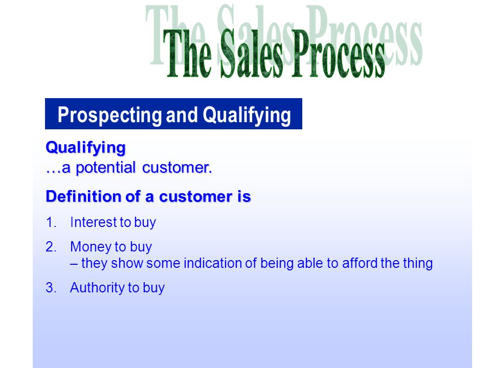 potential customers definition Service standards are important for customers, potential customers, employees  and management of a business they help to define what a.