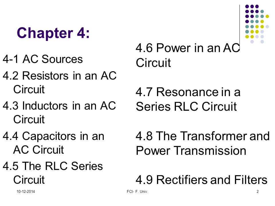 Chapter 4: 4.6 Power in an AC Circuit