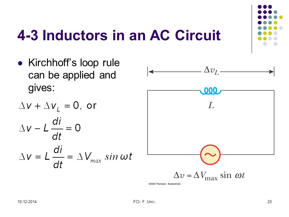 4-3 Inductors in an AC Circuit