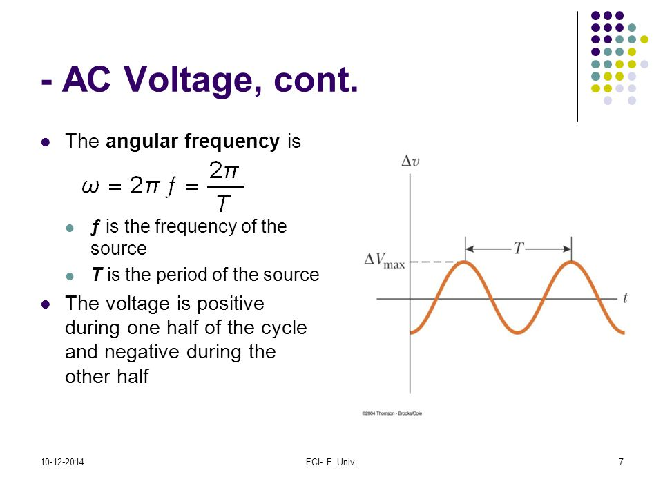 Frequency Of Ac : Alternating current circuits ppt download