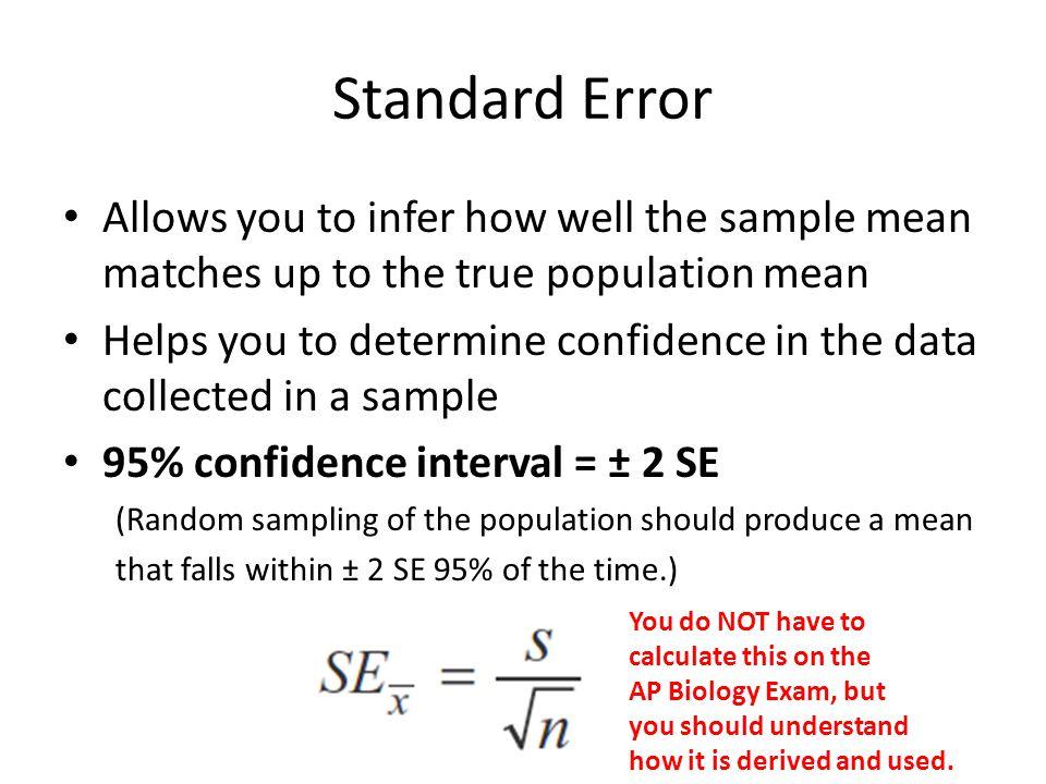 Standard Error for AP Biology - ppt download