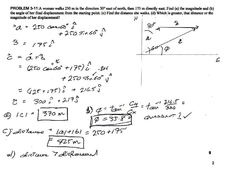 physics 111  121 vector mini-review problem solutions