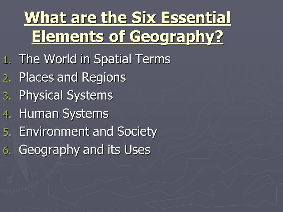 Five Themes of Geography - ppt download