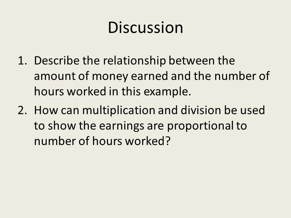 describe and explain the relationship between amount of