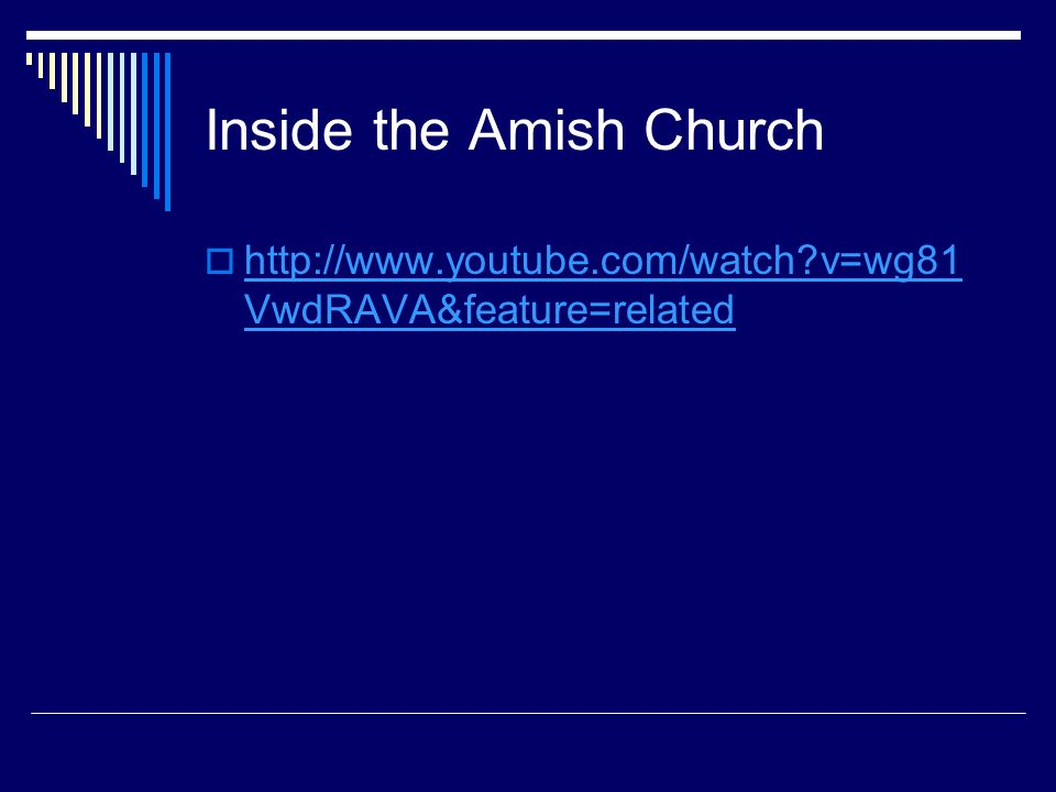 Inside the Amish Church